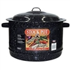 19QT STOCK POT W/LID BLACK, ENAMEL