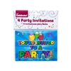 PARTY INVITATIONS, BOY, HOLOGRAPHIC, 4/PACK