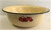 "WASH BASIN 15.75"" DECORATED BEIGE ENAMEL"