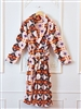 PLUSH ROBE SOUTHWEST PATTERN, ASST COLORS
