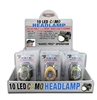 CAMO HEADLAMP 10 LED, 12/DISPLAY