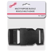 BUCKLE, MULTI-PURPOSE BLACK PLASTIC