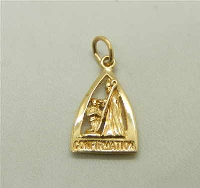 Confirmation 14 K Yellow Gold Charm