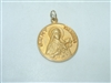 14k yellow gold Saint Teresa Medal