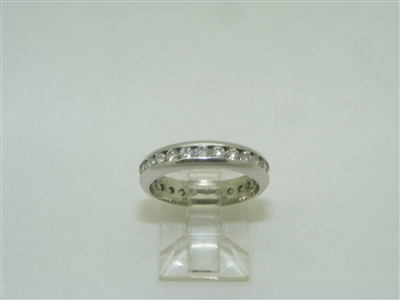 18k white gold eternity band