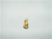 14k yello gold praying hands with cross