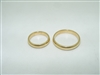 14k yellow gold plain comfort wedding band set