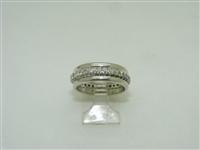 Beautiful 14k white gold eternity band