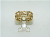 Vintage 3 row eternity band