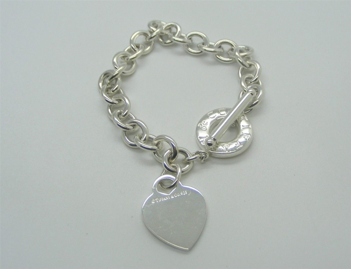 95c10448f8dd0 Pre-Owned Tiffany & Co Heart Tag Toggle Bracelet In Sterling SIlver