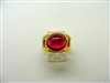Cabochon Ruby Laite Ring