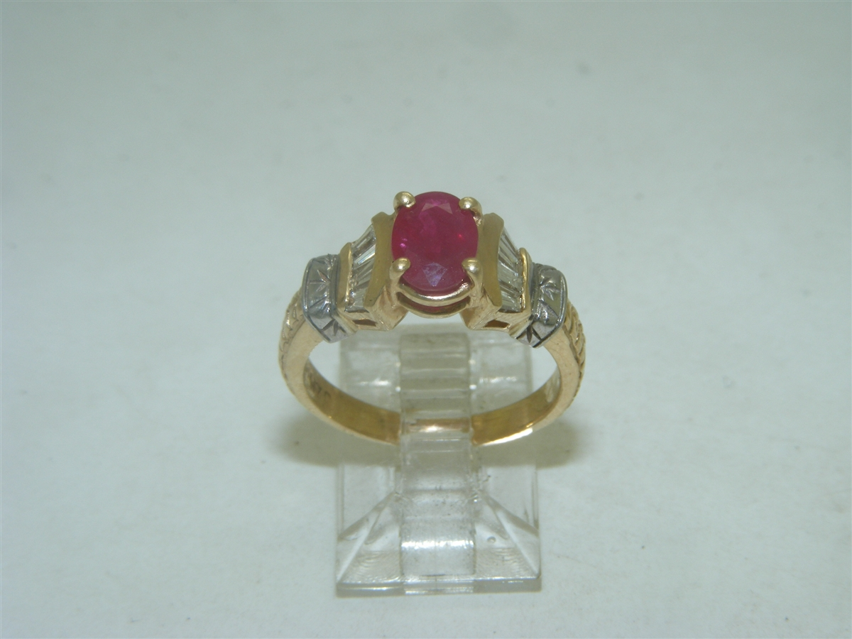 ab6a14413e203 14k Yellow Gold African Ruby ring
