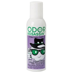 Odor Assassin - Crisp Cotton Scent Non-Aerosol 6 fluid oz