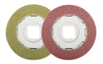 SEBO Disco Polishing Pads (2 Pads) for Poor Surface Prep (Red) and Restoring Gloss Finish (Yellow) 3286ER40