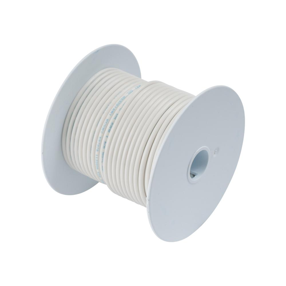 Ancor White 12AWG Tinner Copper Wire - 100\'