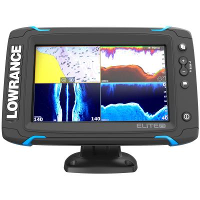 Lowrance Elite-7 Ti Touch Combo - Med/High/455/800 HDI Transom Mount Transducer