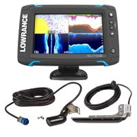 Lowrance Elite-7 Ti Bundle w/Med/High Skimmer Ducer, StructureScan-HD Ducer  Y-Cable