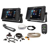 "Lowrance HDS Live Bundle - 9""  12"" Display AI 3-In-1 T/M Transducer, Point 1 GPS Antenna, LR-1 Remote  Cabling"