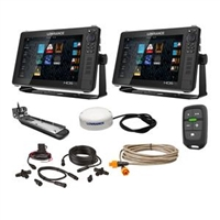 "Lowrance HDS Live Bundle - 2 -12"" Displays, AI 3-In-1 T/M Transducer, Point 1 GPS, LR-1 Remote  Cabling"