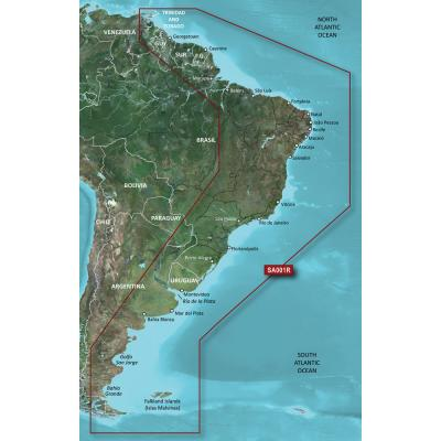 Garmin BlueChart g3 Vision HD - VSA001R - South America East Coast - microSD/SD