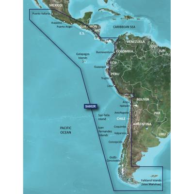 Garmin BlueChart g3 Vision HD - VSA002R - South America West Coast - microSD/SD