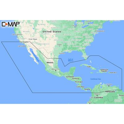 C-MAP M-NA-Y205-MS Central America  Caribbean REVEAL Coastal Chart
