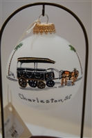 Carriage Ride Glass Ball Ornament