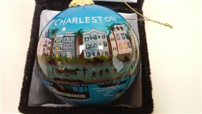 Charleston Homes on Water Front Ornament