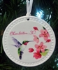 Ceramic Hummingbird Ornament