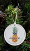 Round Ceramic Pineapple Ornament