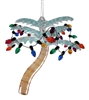 Colored Palm Tree With Lights Ornament
