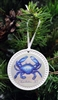 Ceramic Blue Crab Ornament