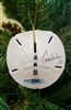Morris Island Light House Sand-Dollar Ornament