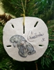 Manatee with Baby on Sand-Dollar Ornament
