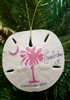 "Pink Palmetto ""Carolina Girl"" Sand-Dollar Ornament"