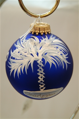 Blue Palmetto Ornament