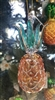 Amber Glass Pineapple Ornament