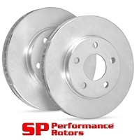 FRONT PAIR - SP Premium Brake Rotors - Uncoated - 19-2824P