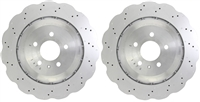 REAR PAIR - Cross Drilled Brake Rotors - 14-18 Audi RS7