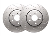 FRONT PAIR - Diamond Slot Rotors With Silver Zinc Plating - D55-126-P