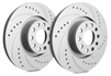 FRONT PAIR - Drilled And Slotted Rotors With Gray ZRC Coating - F55-013