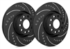 REAR PAIR - Drilled And Slotted Rotors With Black Zinc Plating - F01-939-BP