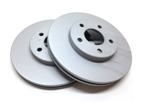 FRONT PAIR - Premium Brake Rotors With Gray ZRC