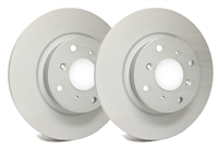 FRONT PAIR - SP Premium Brake Rotors With Gray ZRC Coating - P04-2424