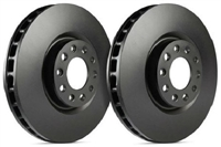 REAR PAIR - SP Premium Brake Rotors With Black Zinc Coating