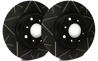 FRONT PAIR - Peak Series Rotors With Black Zinc Plating - V55-185-BP