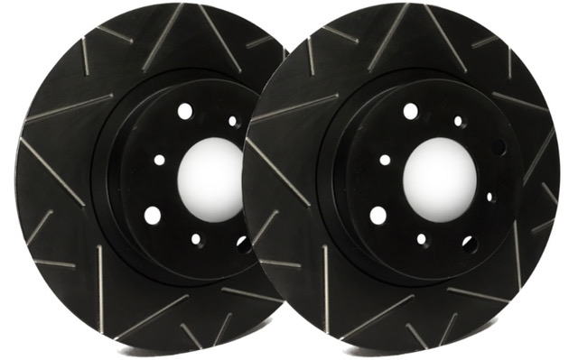 REAR PAIR - Peak Series Rotors With Black Zinc Plating - V01-939-BP