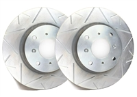 FRONT PAIR - Peak Series Rotors With Silver Zinc Plating - V55-028-P