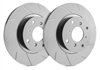 FRONT PAIR - Slotted Rotors With Gray ZRC - T01-938