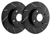 REAR PAIR - Slotted Rotors With Black Zinc Plating - T01-939-BP